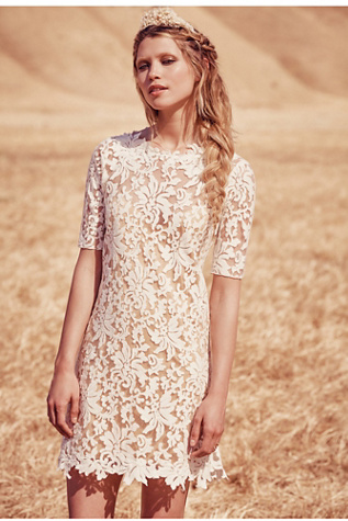 Grace Loves Lace x Free People Womens LUCIA MINI DRESS