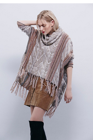Free People Womens Be The One Poncho