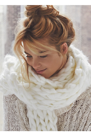 Free People Womens Maggie Maye Chunky Knit Scarf