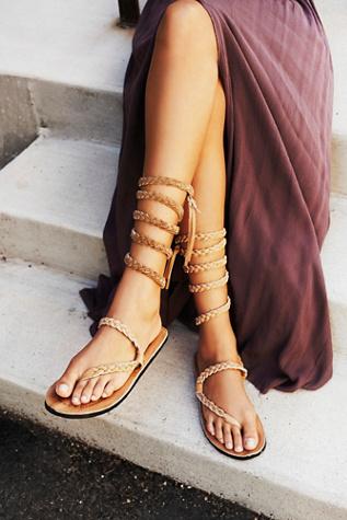 heather marie Womens Braided Sandal