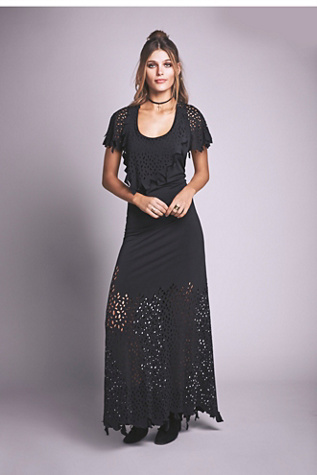 Cecilia De Bucourt Womens Cutwork Maxi $305.00 AT vintagedancer.com