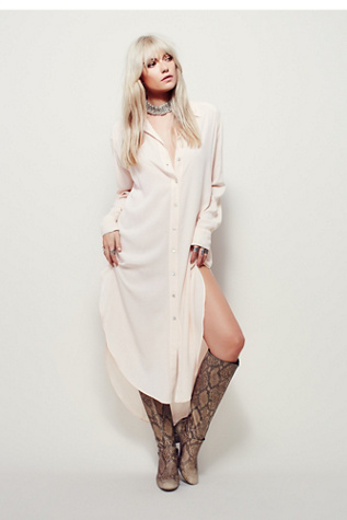 Free People Womens Finding Home Silk Maxi