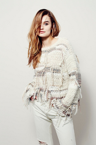 Unspun x Free People Womens Cirrus Thermal Sweater