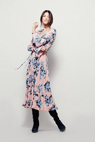 Free People Womens Rooftop Midi Dress $168.00 AT vintagedancer.com