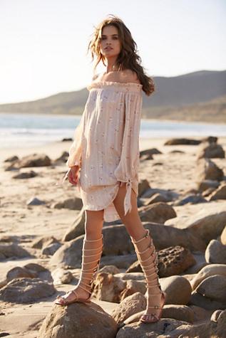 WAYF Womens Lily Printed Dress