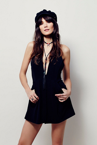 Free People Womens TROUBLEMAKER ROMPER