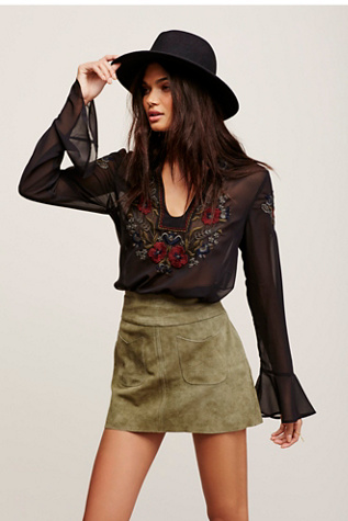 Free People Womens MAD LOVE SEUDE MINI