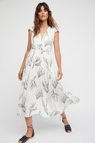 Womens PRINTED RETRO MIDI DRESS