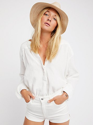 Doublecloth Solid Top by CP Shades x Free People