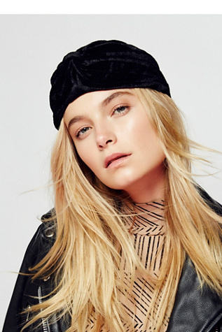 Womens ALL ACCESS VELVET TURBAN at Free People