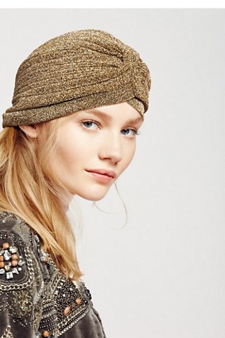 Womens VIP METALLIC TURBAN at Free People
