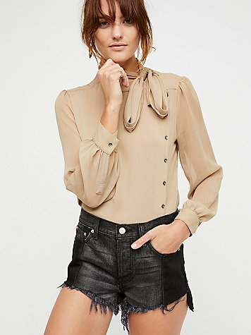 Pieced Step Hem Short by Free People