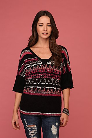 Voluminous Fairisle Sweater | Free People
