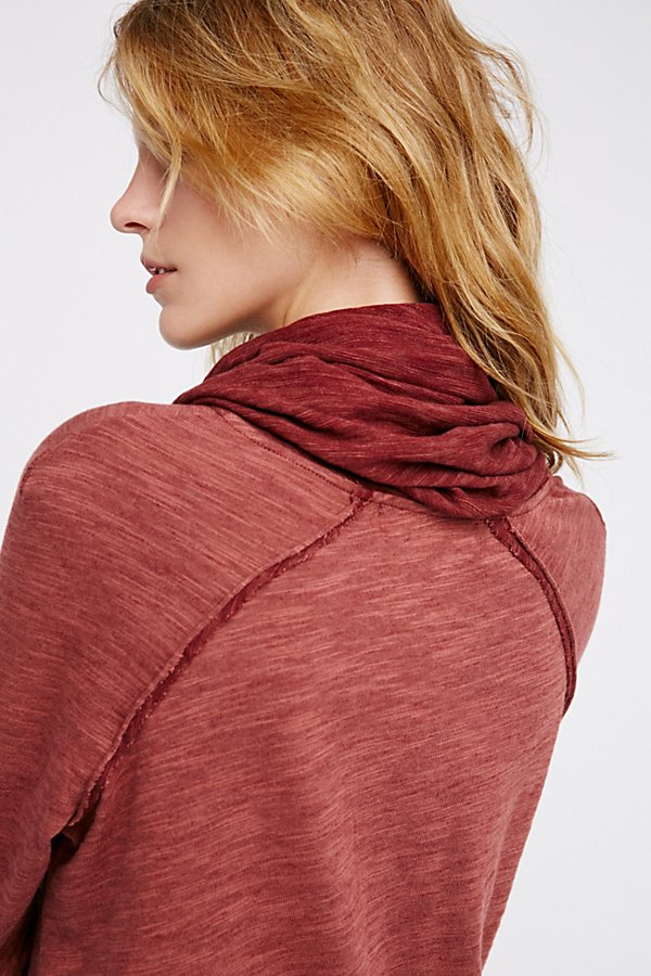 Slide View 4: Cocoon Cowl Neck Top