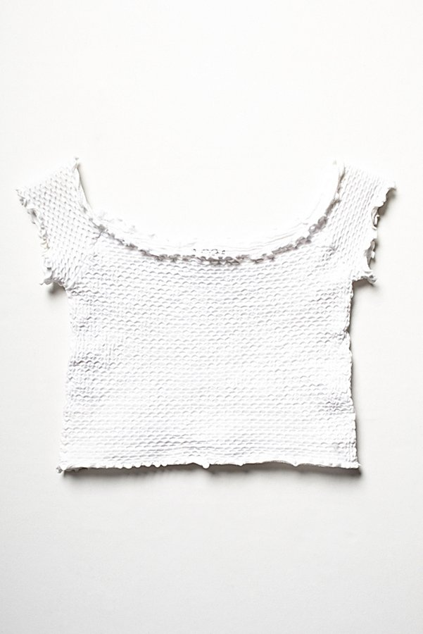 Slide View 4: Smocked Crop Top