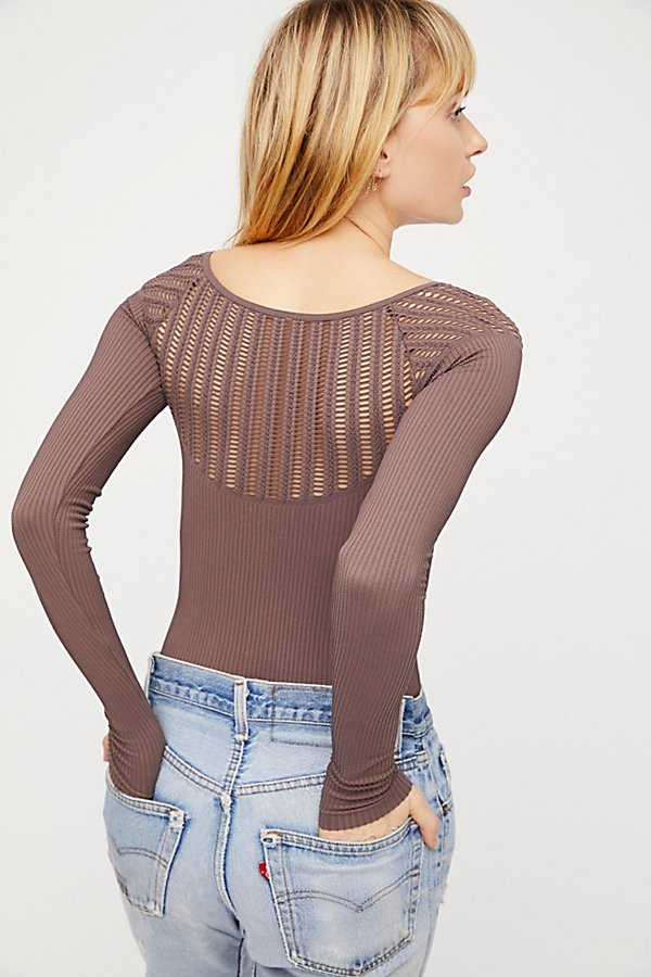 Slide View 2: Cut Out Neck Long Sleeve Top