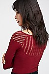 Thumbnail View 1: Cut Out Neck Long Sleeve Top