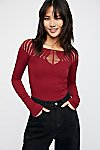 Thumbnail View 3: Cut Out Neck Long Sleeve Top
