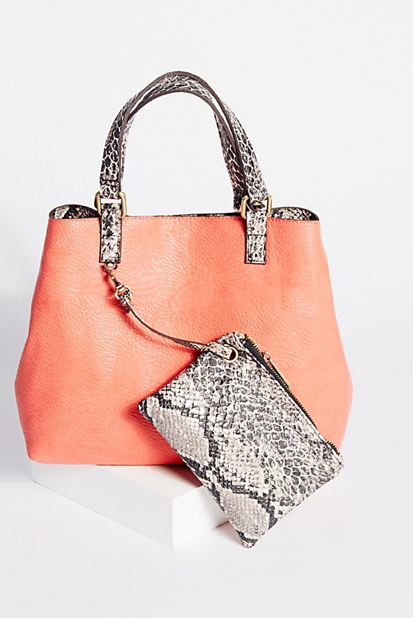 Reversible Vegan Crossbody in Snake Print - Available at Free People