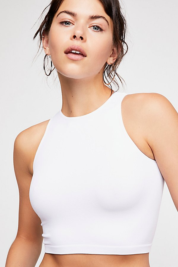 Slide View 1: High Neck Seamless Crop