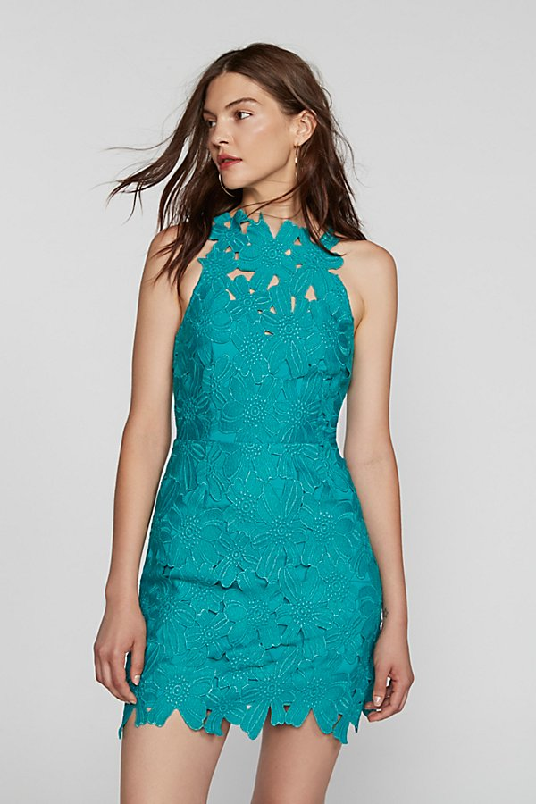 Slide View 1: Jessa Foil Lace Dress