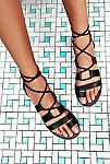 Thumbnail View 1: Vegan Maddie Tie Up Sandal