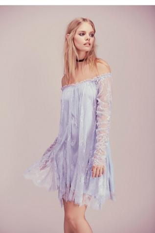 Angel Lace Trapeze Mini Dress Free People