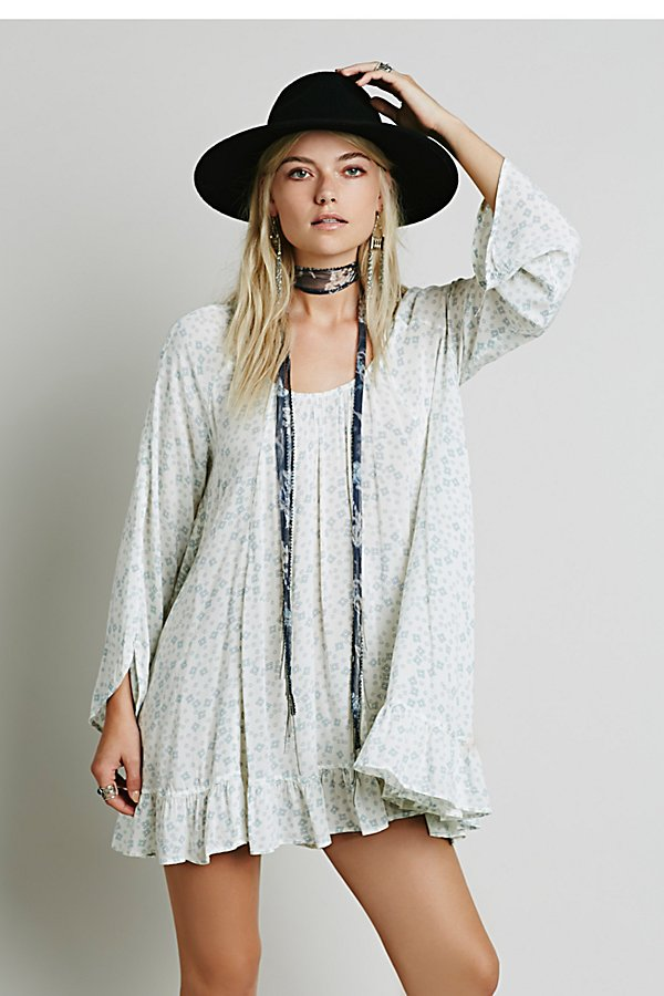 Slide View 1: Printed Ruffle Hem Tunic