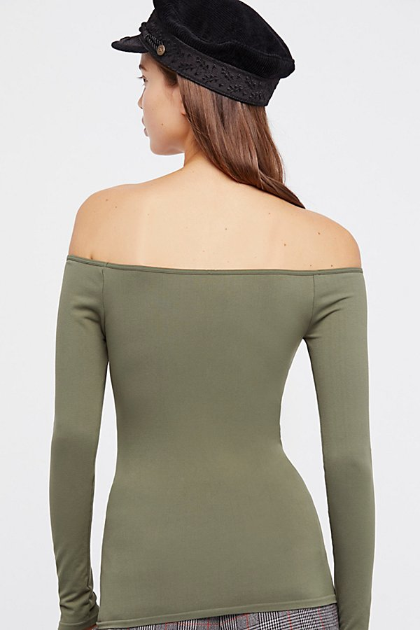 Slide View 2: Off -The-Shoulder Solid Top