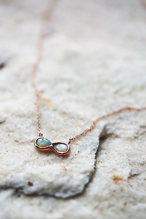 Slide View 1: 14k Infinite Possibilities Opal Necklace