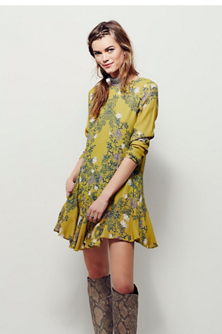 Smooth Talker Floral Print Tunic Free People