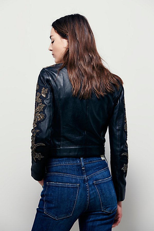 Slide View 2: Doma Embroidered Cropped Jacket