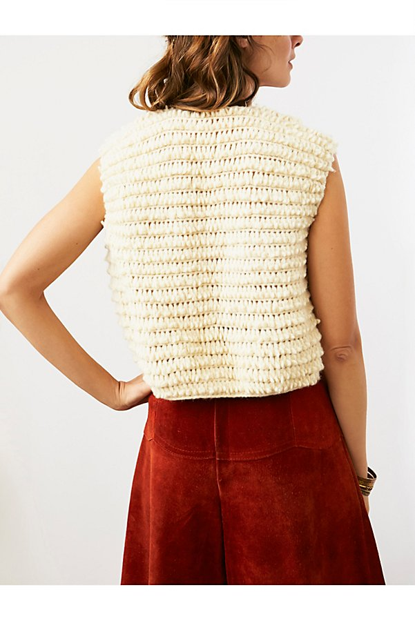 Slide View 2: Vintage Shaggy Knit Vest