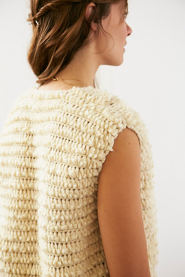 Slide View 4: Vintage Shaggy Knit Vest