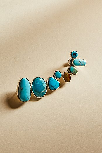 Turquoise Stone Ear Climber