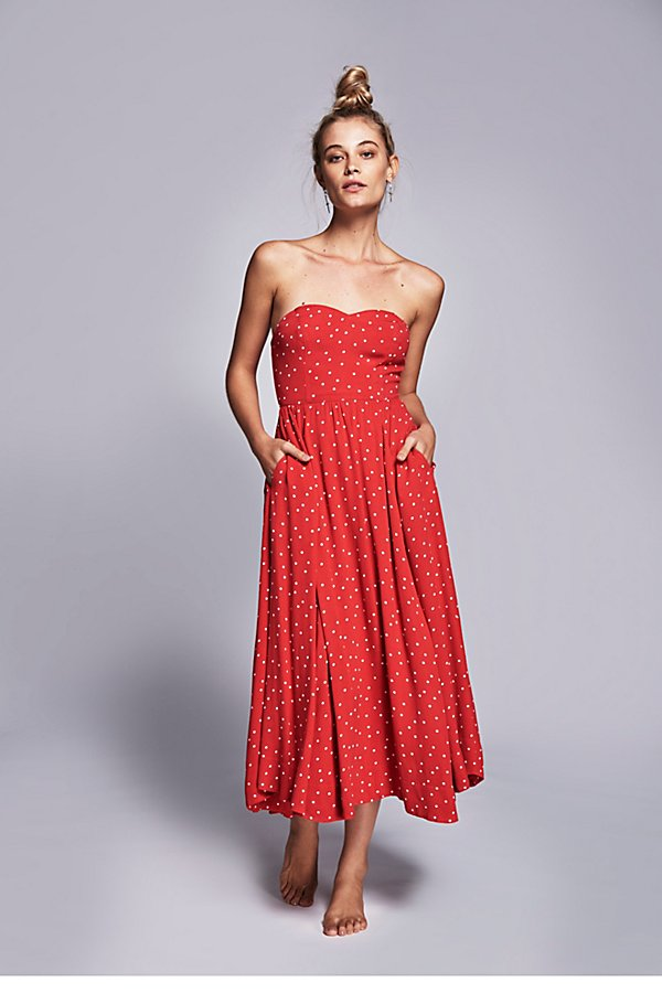 Slide View 1: Bella Donna Polka Dot Dress