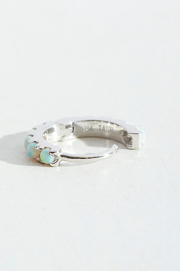 Slide View 2: Opal Eternity Hoop Earring