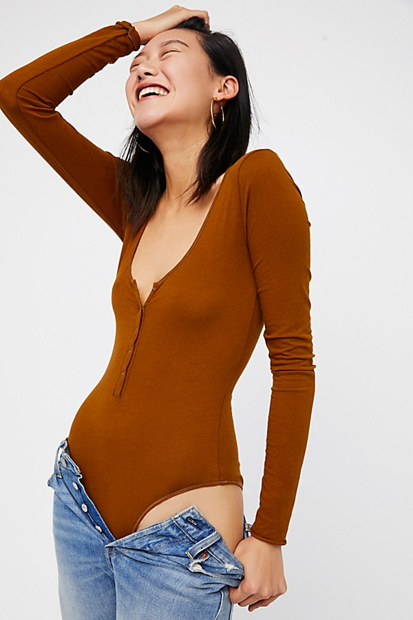 Slide View 3: Simply Henley Bodysuit
