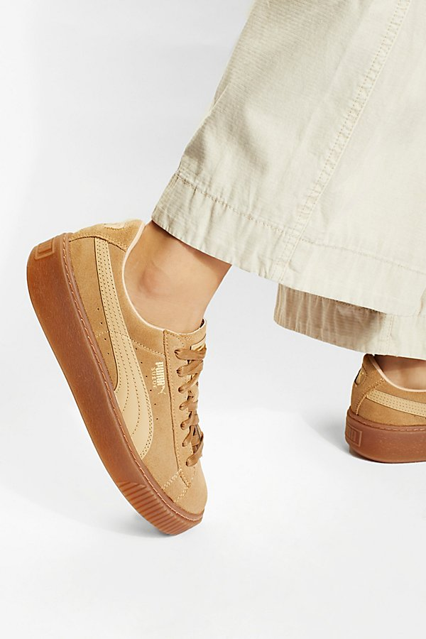 Slide View 1: Suede Platform Core Sneakers