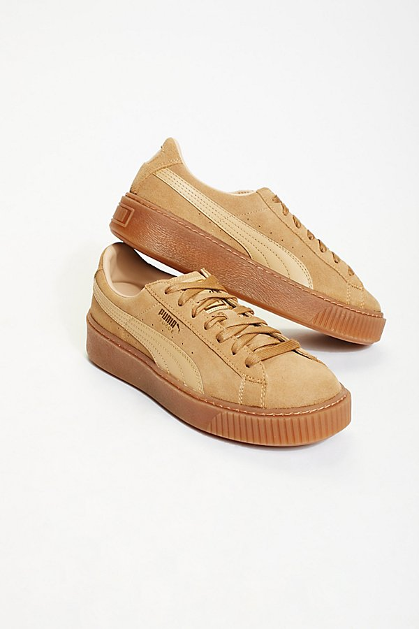 Slide View 2: Suede Platform Core Sneakers