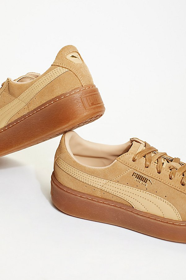 Slide View 3: Suede Platform Core Sneakers