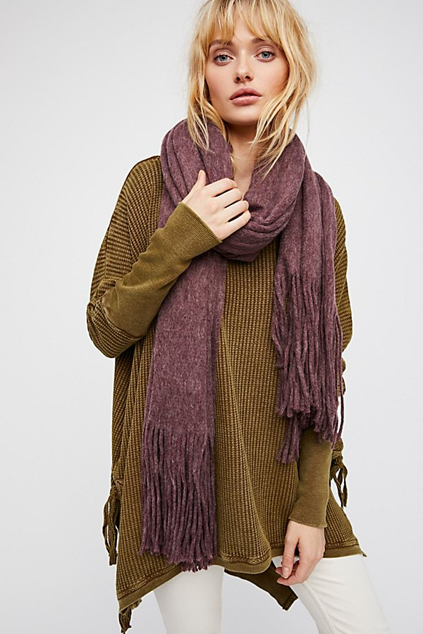 Slide View 2: Kolby Brushed Fringe Scarf