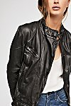 Thumbnail View 4: Fitted and Rugged Leather Jacket