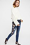 Thumbnail View 1: Marilyn Embroidered Skinny Jeans