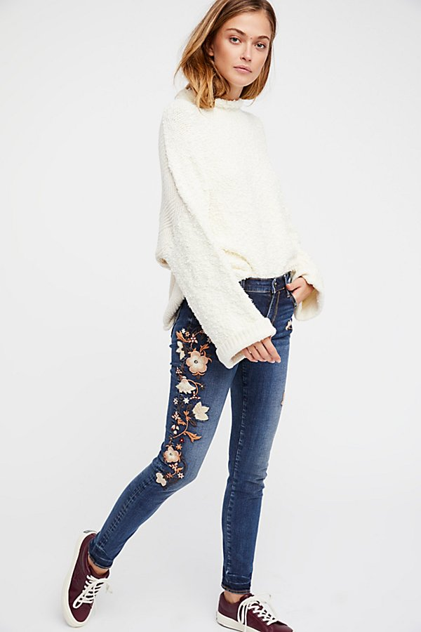 Slide View 1: Marilyn Embroidered Skinny Jeans