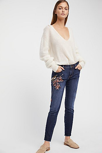 Marilyn Embroidered Skinny Jeans