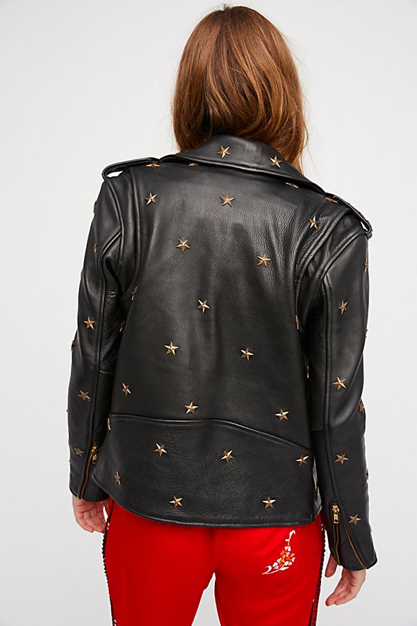 Slide View 2: Star Studded Leather Jacket