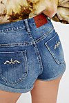 Thumbnail View 4: Blue York High Rise Denim Shorts