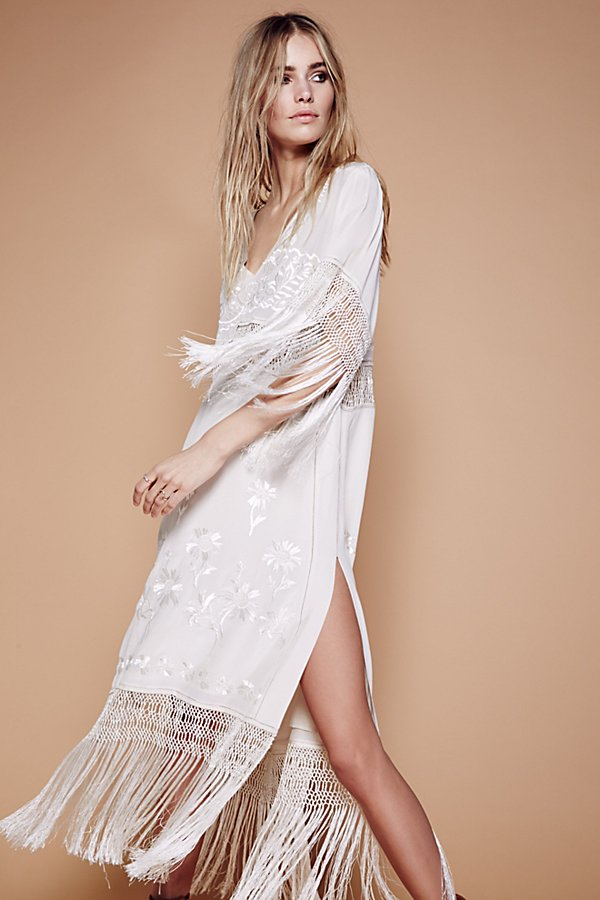 Slide View 1: Ella Fringe Midi Dress