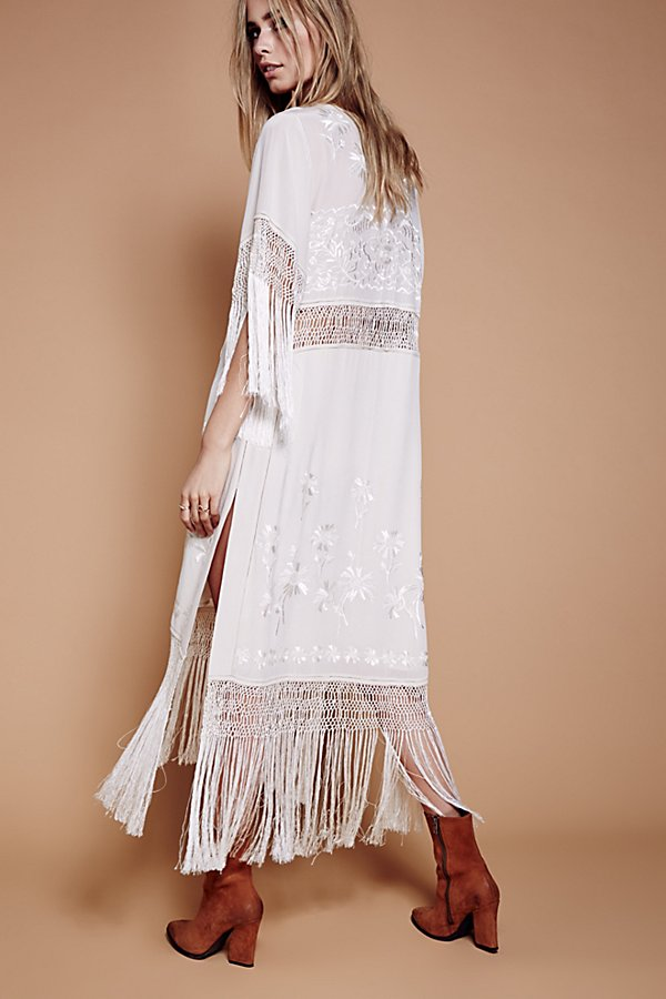 Slide View 3: Ella Fringe Midi Dress